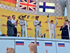 Lewis Hamilton, Nico Rosberg and Bottas #f1 #2014#Russiangp