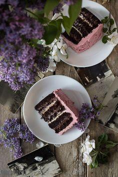 Chocolate Raspberry Birthday Cake