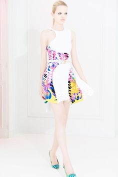 Versace, Spring Summer 2012 Resort collection. Vacation dresses in a tropical print inspired by Matisse's Bouquet