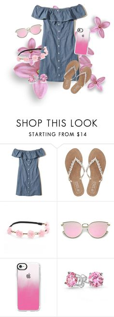"""""""Untitled #33"""" by gabby23-2 ❤ liked on Polyvore featuring Hollister Co., M&Co, Mudd, Casetify, Bling Jewelry, casual, Pink and polyvorefashion"""