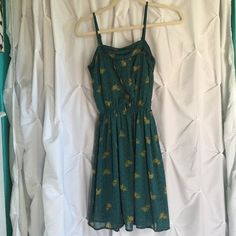 Mossimo Supply Co teal dress Worn 3 times max. Has a built in slip, so no worries it's not see through! Adjustable straps! Smoke free home. Great for spring-fall! Mossimo Supply Co. Dresses Mini