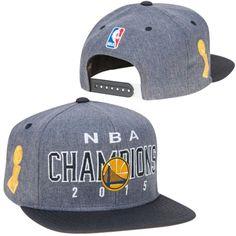 Men s Golden State Warriors adidas Gray Black 2015 NBA Finals Champions  Locker Room Snapback Hat a1ef020a20f