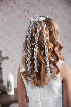 Flower and Organza Hair Comb from Emmerling 77060