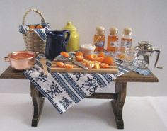 Dollhouse table Making Marmelade  A by Insomesmallwayminis on Etsy, $36.50