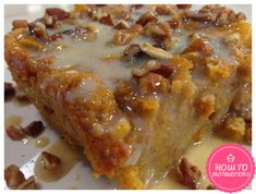 Grandma's Old-Fashioned Bread Pudding with Vanilla Sauce!