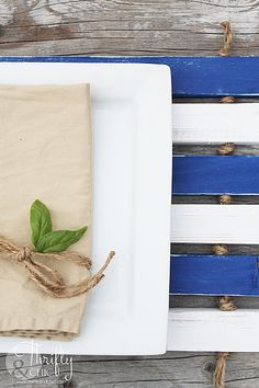 DIY Strung Outdoor Placemats made with Americana Decor Outdoor Living paint, pieces of wood, and jute! Simple as that! Outdoor Ideas, Outdoor Tables, Outdoor Decor, Outdoor Acrylic Paint, Cool Diy Projects, Home Decor Items, Building Design, Jute, Outdoor Living