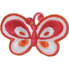 Blumenthal Lansing Iron-On Appliques-Pink Butterfly - Pink Butterfly