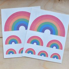Rainbow Temporary Tattoos