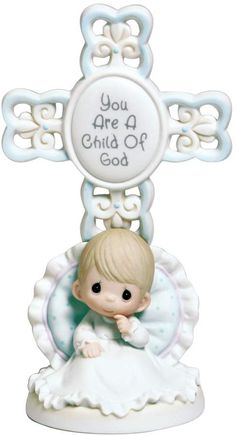 Find baptism gifts as well as bisque porcelain figurines, sculptures, ornaments, and more for all of Baby's special occasions at Precious Moments. Precious Moments Quotes, Precious Moments Figurines, Precious Moments Nursery, Boy Christening, Little Blessings, Baptism Gifts, Baptism Ideas, Crosses Decor, My Precious