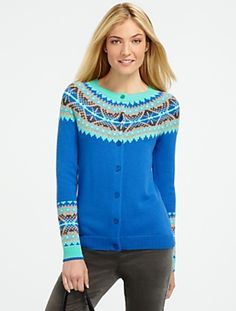 I can knit that! Cable-Yoke Sweater - Talbots $90 | Knittin ...