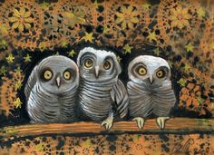 'Baby Owls and a Very Starry Night' by Clancy Cavnar
