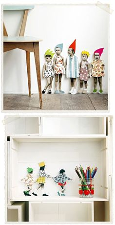 cardboard kids to decorate a wall or shelf paper oranges: zoe de las cases Diy And Crafts, Crafts For Kids, Arts And Crafts, Wooden Crafts, Paper Dolls, Art Dolls, Art Projects, Projects To Try, Kirigami
