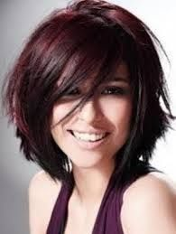 burgundy hair highlights for black hair - Google Search
