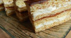 Hungarian Recipes, Sweet Cakes, Cake Cookies, Vanilla Cake, Banana Bread, French Toast, Food And Drink, Sweets, Cream