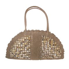 1stdibs.com | Bottega Veneta Limited Edition Deerskin Half-moon bag w feathers