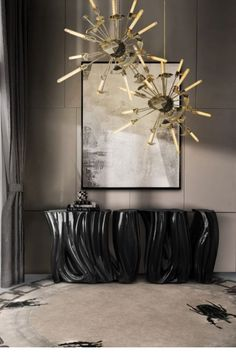 A demonstration of both imagination and strong design skills, the Monochrome Sideboard by Boca do Lobo is a remarkable piece that stands out in any room or setting. Perfect for living spaces grounded in a contemporary style as they embrace careful craftsmanship, this console expresses a leading edge outlook though its daring curvy shapes and dark tones.
