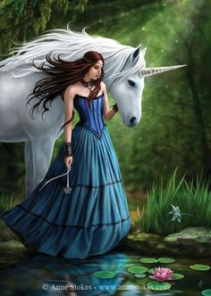 enchanted pool by anne stokes - Fantasy Art by Anne Stokes  <3 <3