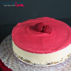 Raw Vegan White Chocolate and Raspberry Cheesecake {Gluten-Free+Paleo}