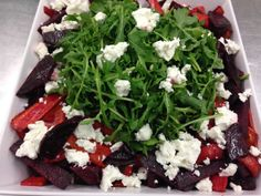Beet Salad With Arugula and Feta Cheese ---- #arista #catering #Seattle #salad (888)98-CATER