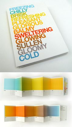 colourful calendar design (by Jonathan Davies) #typography #design -- I love this!