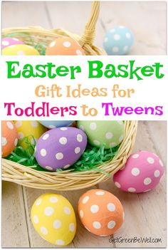 Cutest Easter Basket Gift Ideas and Fillers for Babies, Toddlers and Tweens. Candy-free gifts that will make them smile - and you, too! Easter Gift Baskets, Basket Gift, Easter Cookies, Easter Treats, Holiday Gift Guide, Holiday Gifts, Holiday Ideas, Crafts For Kids, Diy Crafts