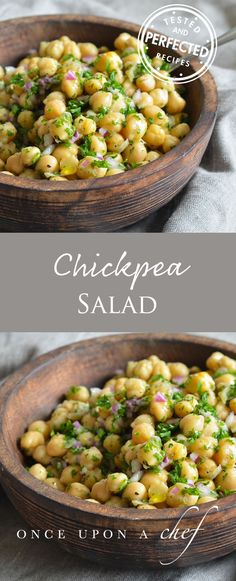 Chickpea & Red Onion Salad - I had this dish once on a road trip. When we got home, I found myself craving that chickpea salad, so I came up with this super-easy copycat recipe. It's perfect for an office desk or picnic lunch, potluck salad, or side dish to grilled shrimp or chicken. Feel free to add feta cheese crumbles to bulk it up, if you like!