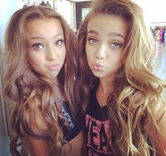 Sophia Lucia and Taylor Nunez)) Hey I'm Taylor and this is my twin sister Sophia! We are dancers and models! We are 14 years old Famous Dancers, Famous Celebrities, Dance Moms, Children Photography, My Girl, Cute Girls, Hair Beauty, Long Hair Styles, Double Trouble