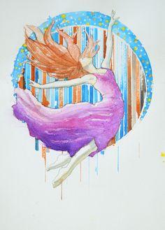 Pavel Kasparek / Flight / watercolor painting/ 8 x 12 inch