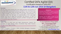 Certified SAFe Agilist (SA) Certification based on SAFe V4.0 Dates : 11th & 12th Jun 2016 @ Bangalore WebURL : http://www.bit.ly/kw_SAFe Contact : Chinmaya S Patil ( 9886077575 )