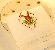 pictures of easter table runners | Easter Branch Linen Guest Towel - 14 x 22 Easter Bunny Guest Towel Ea ...