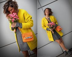 Galant-Girl Ellena - Proenza Schouler Bag, New Balance Sneakers - With love from Ukraine. С любовью из Украины. Colour Combinations Fashion, Color Combinations For Clothes, Color Blocking Outfits, Grey Fashion, Look Fashion, Winter Fashion, Womens Fashion, Dress Outfits, Cute Outfits
