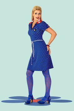 #TheWorldIsMyBubble Buy your new dress on newdress.dk Margot dress: Monday mornings Summer 2016 #newdress_dk #retrodress #vintagedress