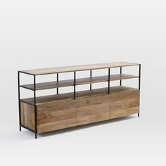 "Industrial Modular 67"" Media Console 