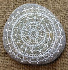Mandala Painted Pebble