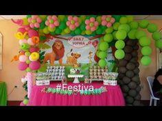 Decoracion de Fiesta inspirada en el Rey Leon - The Lion King Party | Festiva - YouTube