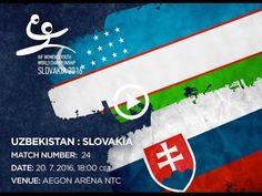 UZBEKISTAN : SLOVAKIA Bratislava, World Championship, Youth, Handball, World Cup, Young Adults, Teenagers