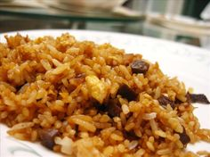 Fried Rice Easy Recipe (sub brown rice) Side Dish Recipes, Rice Recipes, Asian Recipes, Great Recipes, Dinner Recipes, Cooking Recipes, Favorite Recipes, Risotto Recipes, Chinese Recipes
