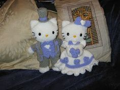 Hello Kitty Victorian Wedding Amigurumi - FREE Crochet Pattern / Tutorial I'm putting this on every board I have! Mainly cause this literally fits on them all categorically lol Cute Crochet, Crochet Crafts, Crochet Dolls, Crochet Projects, Amigurumi Patterns, Crochet Patterns, Hello Kitty Wedding, Hello Kitty Crochet, Wedding Doll