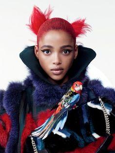 Vogue Itália Janeiro 2015 | Hollie-May Saker por Steven Meisel [Capa]
