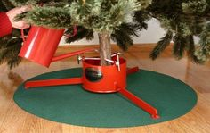 Christmas Tree Stand Mat is a waterproof Christmas tree skirt that really protects your carpet and floor from inadvertent spills when watering a Christmas tree. Also protects floor from scratches when using an artificial tree that doesn't need watering. Christmas Tree Mat, Green Mat, Seasonal Decor, Holiday Decor, Artificial Tree, Santa Baby, Lowes Home Improvements, Happy Thanksgiving, Healthy Life
