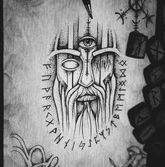 Skull Tattoos, Leg Tattoos, Body Art Tattoos, Tribal Tattoos, Norse Tattoo, Viking Tattoos, Vikings, Scandinavian Tattoo, Forearm Sleeve