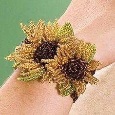 beaded sunflower bracelet from bali