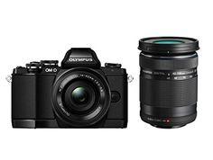 Olympus OM-D E-M10 kompakte Systemkamera inkl. 14-42 mm Pancake Objektiv und 40-150 mm Objektiv (16,1 Megapixel, 7,6 cm (3 Zoll) Display, WLAN, HDMI, USB 2.0) schwarz