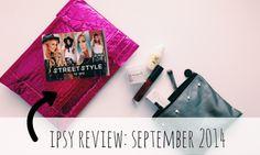 Ipsy Glam Bag Review: September 2014