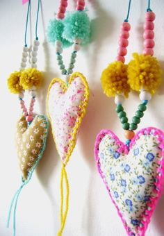 silly old suitcase: hearts and poms