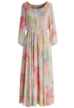 Modest floral printed ankle length dress | Mode-sty #nolayering