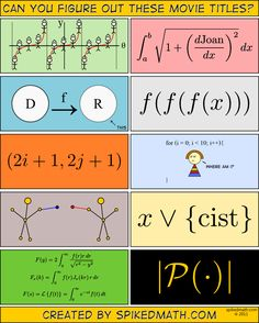 Movie math quiz! This comic makes me happy in general. I'm enough of a math-o-phile to be amused, but not enough to be a loser.