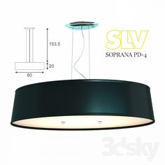 3d models: Ceiling light - SLV SOPRANA PD-4