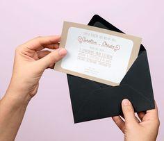 Convite de casamento usando o estilo vintage com cores nude's