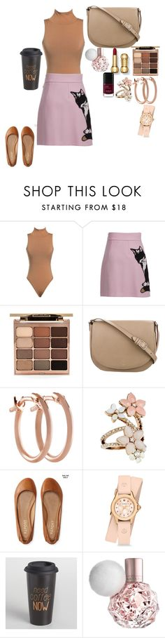 """""""Untitled #200"""" by rowanstella ❤ liked on Polyvore featuring MSGM, Stila, CÉLINE, Pori, Accessorize, Aéropostale, Michele and Cost Plus World Market"""